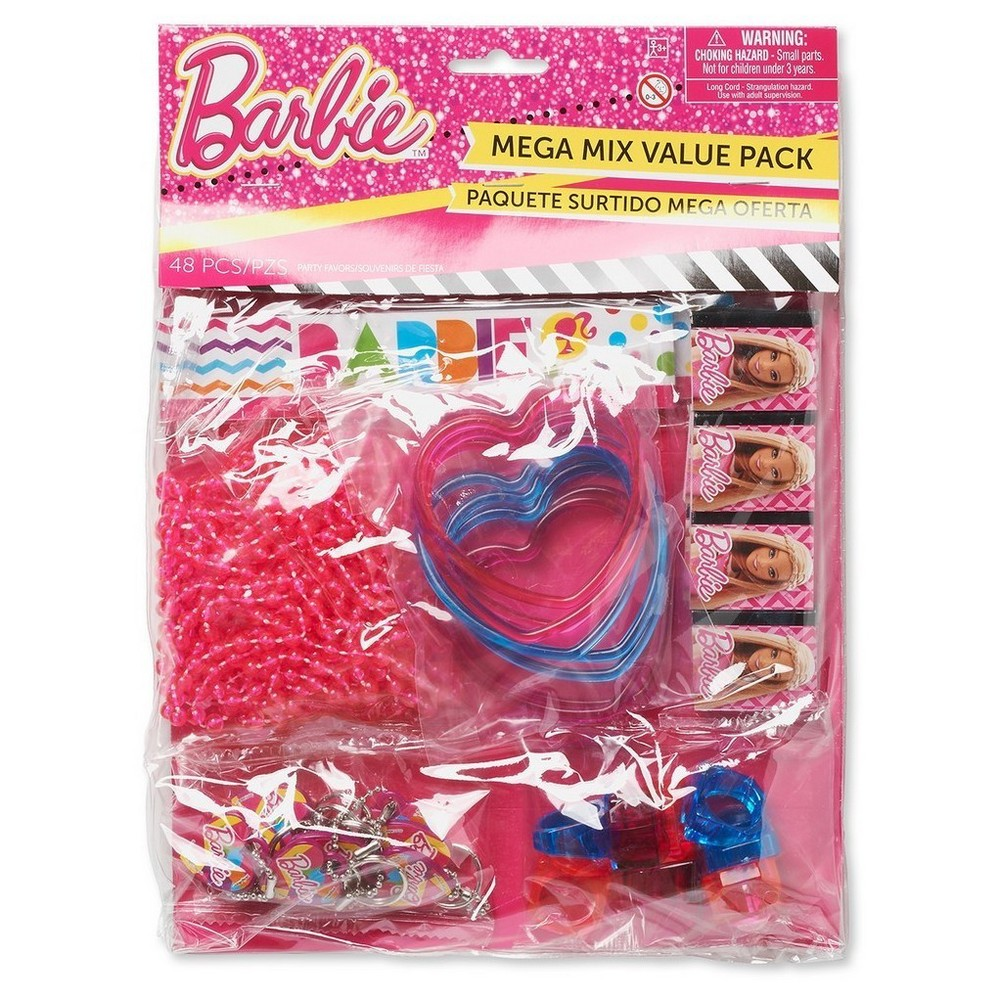 Barbie Party Favor Pack - 48ct, Multi-Colored