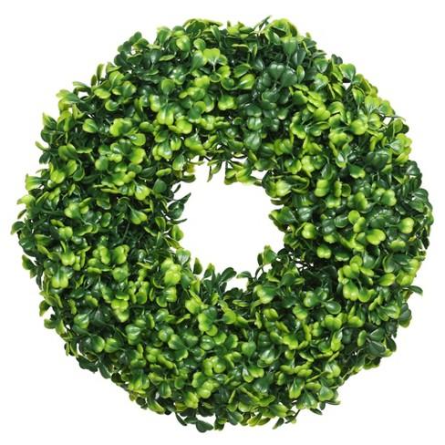 """10"""" Artificial Mini Button Leaf Wreath - Vickerman - image 1 of 2"""