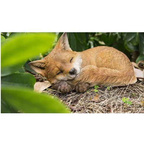 "5"" Polyresin Sleeping Fox Pup Statue Orange - Hi-Line Gift - image 1 of 1"