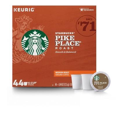 Starbucks Pike Place Medium Dark Roast Coffee - Keurig K-Cup Pods - 44ct