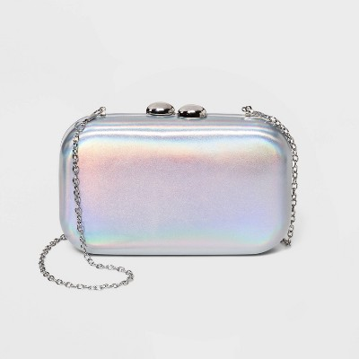 Estee & Lilly Kiss Lock Clasp Rectangle Mini Clutch