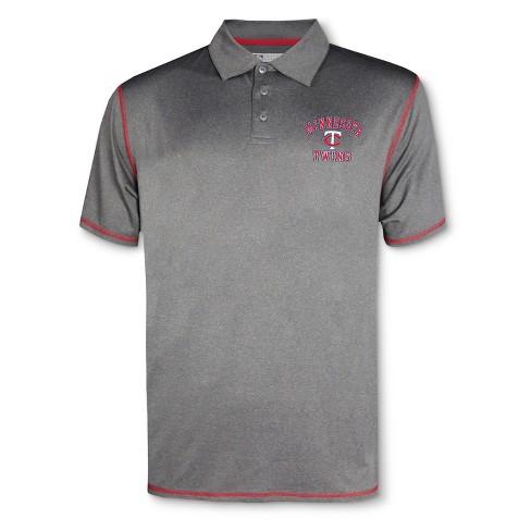 MLB Minnesota Twins Men's Your Team Gray Polo Shirt - image 1 of 1
