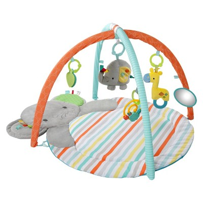 Bright Starts Hug-n-Cuddle Elephant Activity Gym - Orange