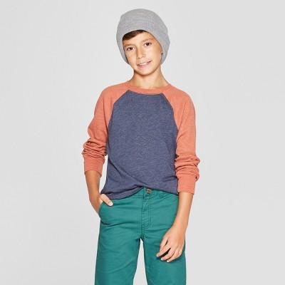 Boys' Raglan Long Sleeve Sweatshirt - Cat & Jack™