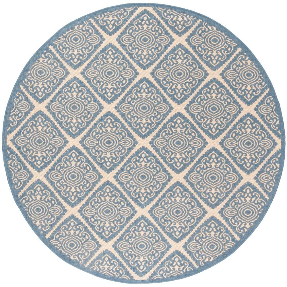 6'7 Medallion Loomed Round Area Rug Cream (Ivory) - Safavieh