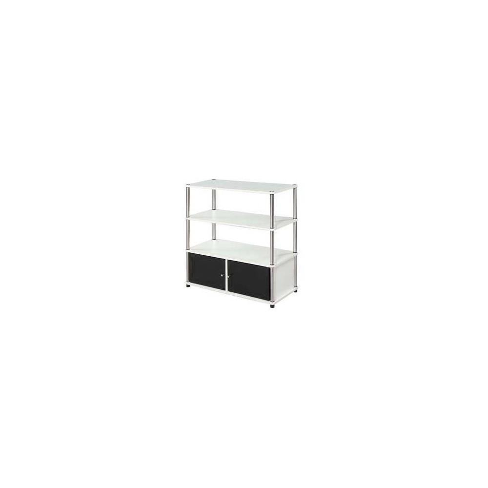 "40"" Designs2Go Highboy TV Stand Black/White - Johar Furniture 40  Designs2Go Highboy TV Stand Black/White - Johar Furniture"