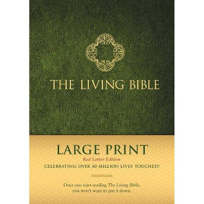 The Living Bible Large Print Red Letter Edition - (Hardcover)