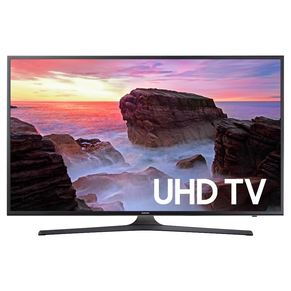 Samsung 43 Flat 4k Uhd - Black (UN43MU6300FXZA) Upgrade your TV to reflect the ever-changing technologies of today with this Samsung 43 Flat 4K Uhd TV. The 4K experience will get you a natural color image while the Hdr will bring all the details to life, giving you a better overall picture. It'll be like you can reach out and touch the water or feel the warmth of the sun on your face.