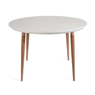 "45.28"" Utopia Round Dining Table Off White - Manhattan Comfort"