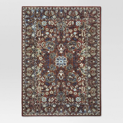 5'X7' Floral Tufted Area Rug Red - Threshold™