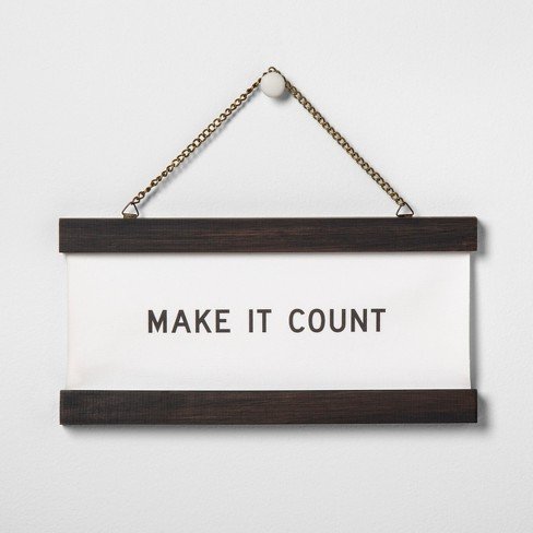 Wall Banner - Make It Count - Hearth & Hand™ with Magnolia - image 1 of 3