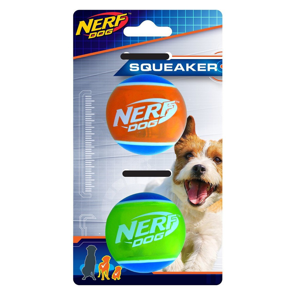 Nerf Squeak Tpr Tennis Dog Toy, Multi-Colored