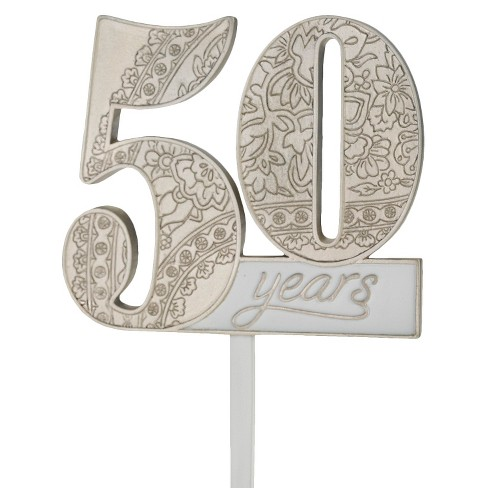 50th Anniversary Cake Topper - image 1 of 2