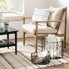 Round Wire Storage Basket with Handles Black - Hearth & Hand™ with Magnolia - image 2 of 3