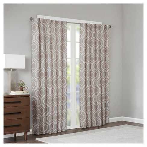 Orlie Metallic Jacquard Window Curtain Panel - image 1 of 3