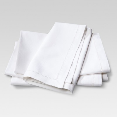 4pk Cotton Napkins Cream - Threshold™
