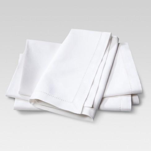 4pk Cotton Napkins Cream - Threshold™ - image 1 of 4