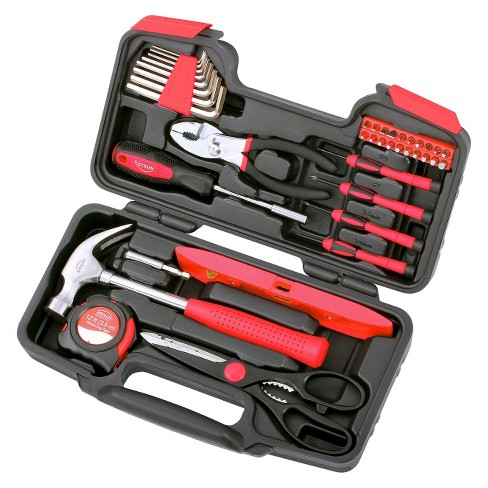 Apollo 39 Pc Household Tool Set Red - image 1 of 2