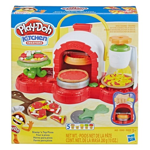Play-Doh Stamp 'n Top Pizza Oven Toy with 5 Non-Toxic Play-Doh Colors - image 1 of 2