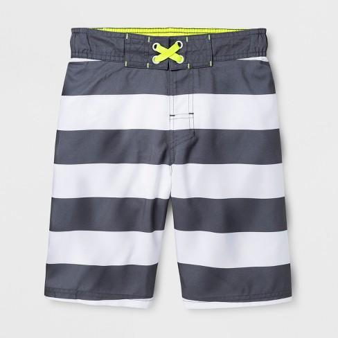 59c8f44cbb2af Boys' Rugby Swim Trunk - Cat & Jack™ Gray XL : Target