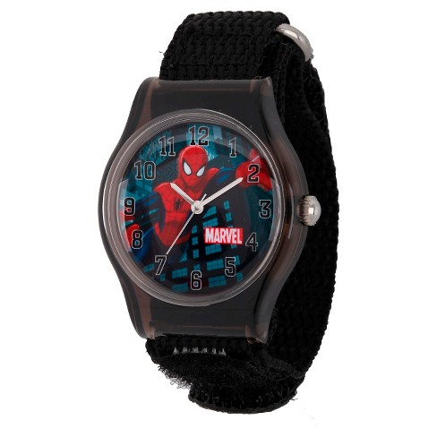 Boys' Marvel Spider-Man Plastic Watch - Black - image 1 of 2