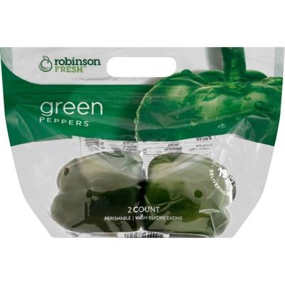 Green Bell Pepper - 2ct Bag