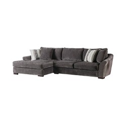 Lindley Flare Arms Sectional Walnut - miBasics