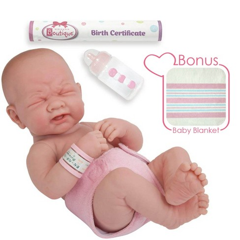 "JC Toys La Newborn 14"" Anatomically Correct  Real Girl Baby Doll - ""First Tear"". Made in Spain - image 1 of 4"