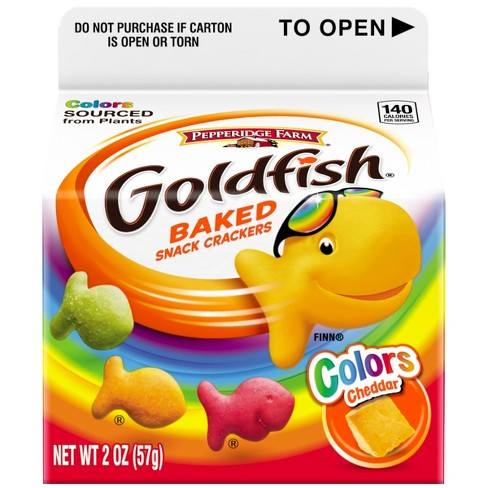 Pepperidge Farm® Goldfish® Colors Cheddar Crackers, 2oz Carton - image 1 of 6