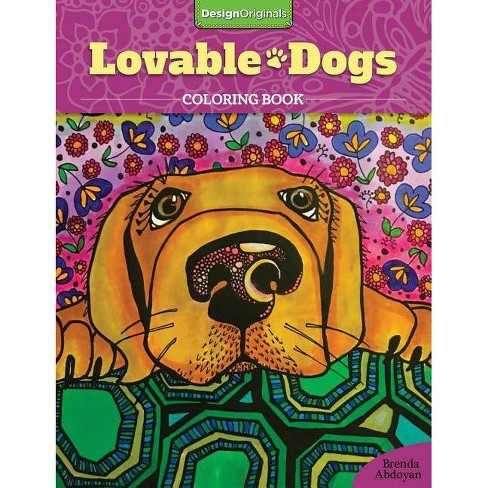 Lovable Dogs Coloring Book - by  Brenda Abdoyan (Paperback) - image 1 of 1