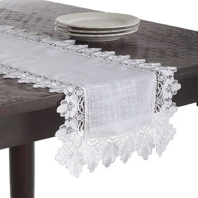 Lace Trimmed Runner White (16 x36 )