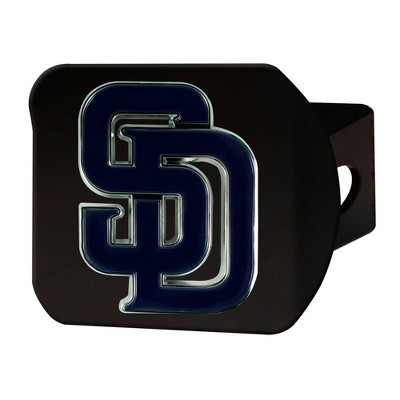 MLB San Diego Padres Metal Emblem Hitch Cover - Black