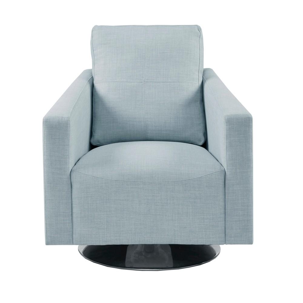 Moore Swivel Chair Light Blue