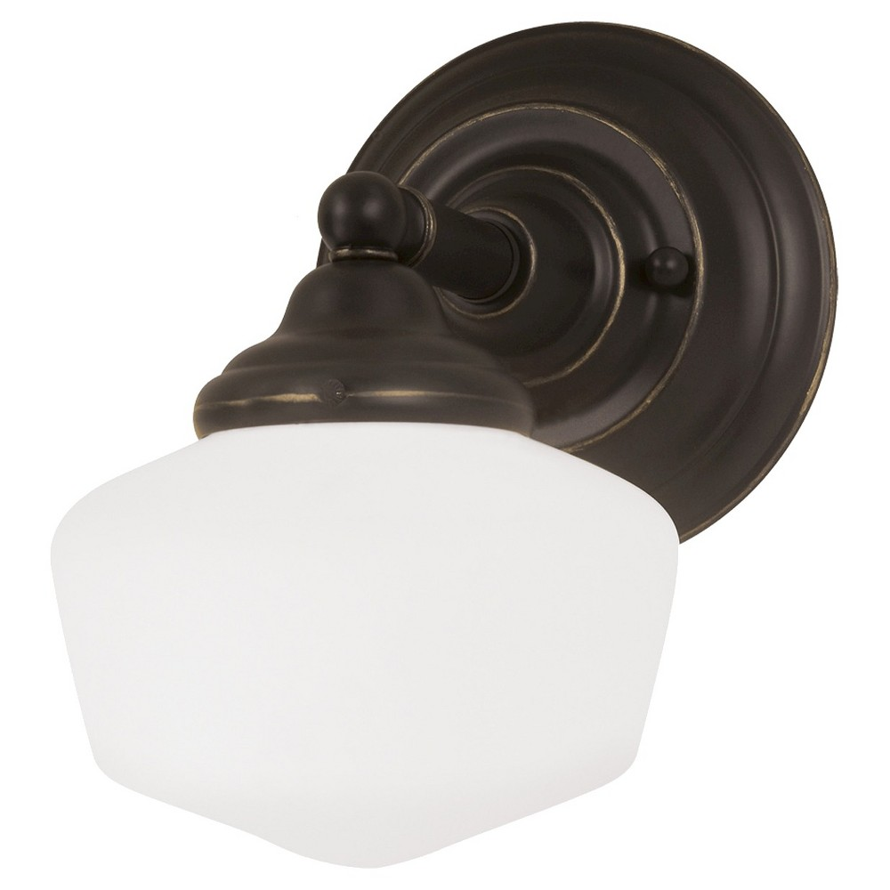 Image of Sea Gull Lighting Academy One Light Bath Sconce - Heirloom Bronze