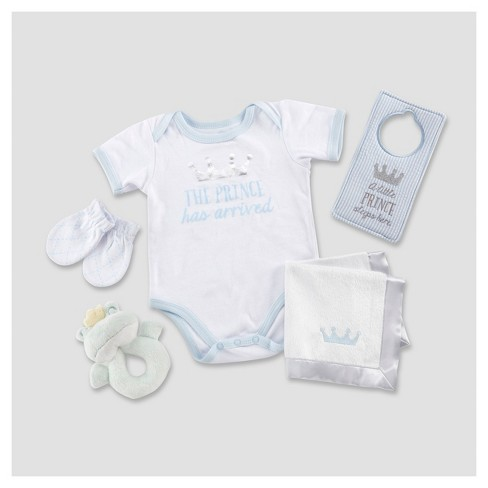 Baby Aspen Boys' Little Prince 6pc Gift Set - 0-6M - image 1 of 1