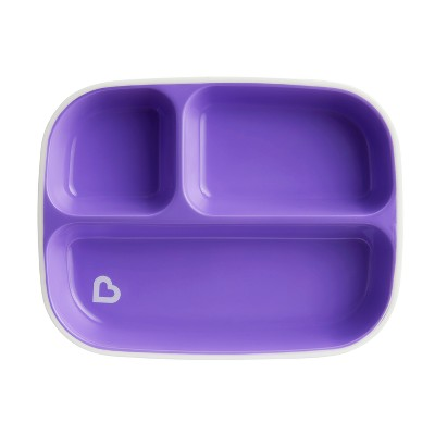 Munchkin Splash Divided Plate - Purple