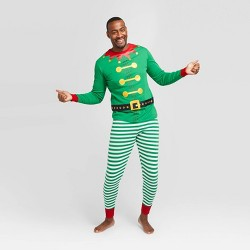 Men's Big & Tall Holiday Elf Pajama Set - Wondershop™ Green