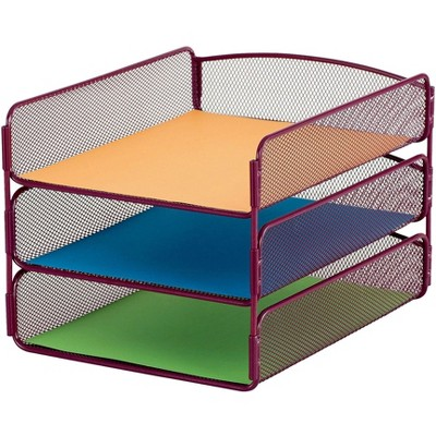 Safco Desk Tray Three Tiers Steel Mesh Letter