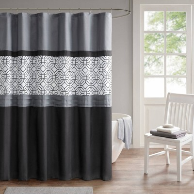Merissi Shower Curtain with Liner Black/Gray