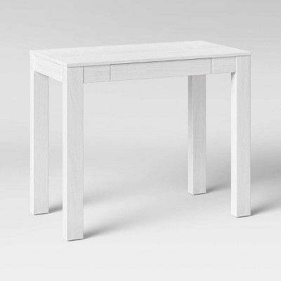 Parsons Desk with Fold Down Drawer White - Threshold™