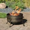 """Cauldron 24"""" Steel Wood Burning Fire Pit Bowl - Round - Sunnydaze Decor - image 2 of 4"""