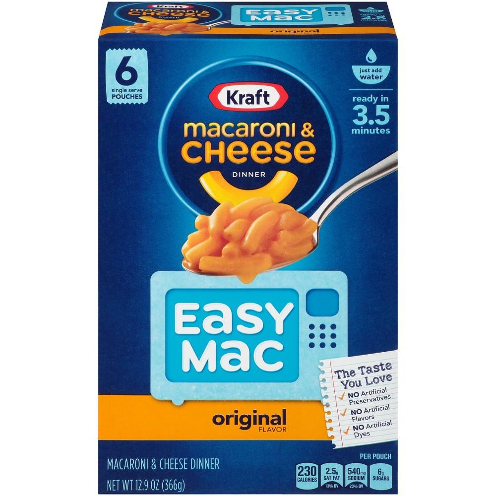 Kraft Easy Mac Original Macaroni & Cheese Dinner 6pk