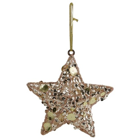 Northlight 6 Tri Color Gold Star Shaped Christmas Ornament Target
