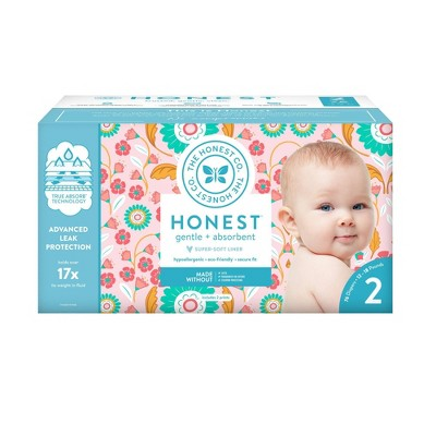The Honest Company Flower Child Club Box Disposable Diapers - Size 2 (76ct)