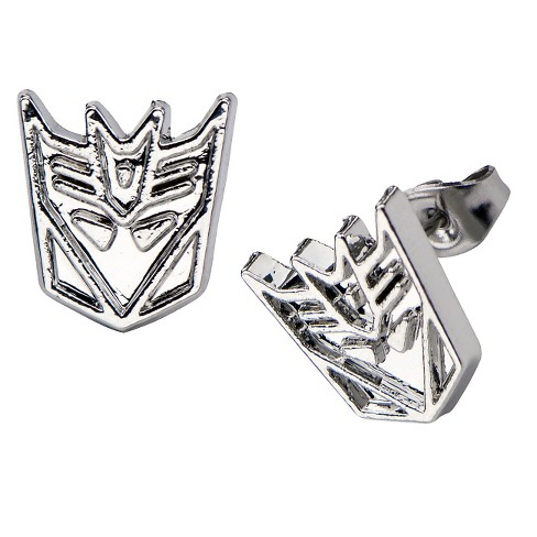 Hasbro® Transformers Decepticon Stainless Steel Stud Earrings - image 1 of 1