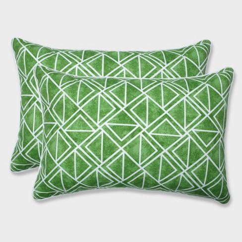 2pk Oversize Lanova Palm Rectangular Throw Pillows Green - Pillow Perfect - image 1 of 1