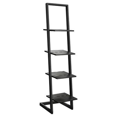"56"" 4 Tier Ladder Bookshelf Black - Breighton Home"