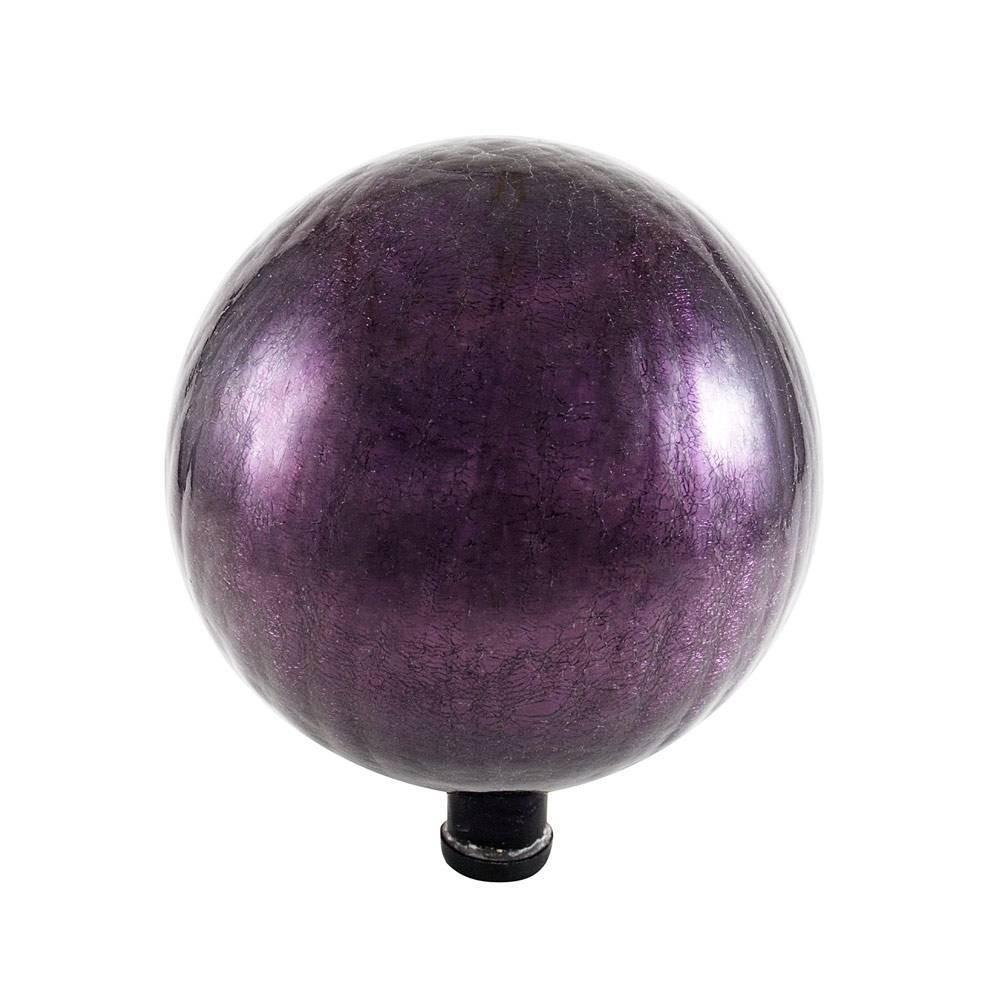 14 34 Decorative Reflecting Glass Gazing Globe Plum Purple Achla Designs