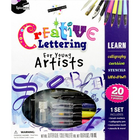 Creative Lettering Set for Young Artists - SpiceBox - image 1 of 4