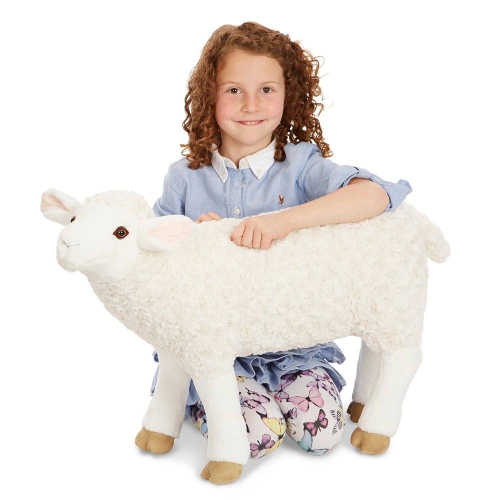 Melissa 38 Doug Giant Sheep Lifelike Stuffed Animal Nearly 2 Feet Tall